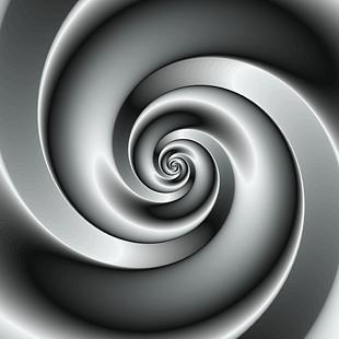 Fraktal Design Schwarz-weiss