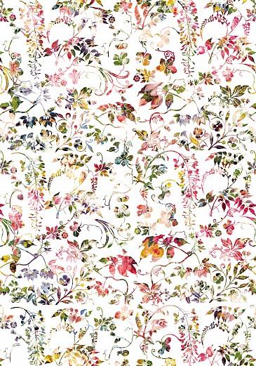 Designer Tapete Blumenmuster - romantisch, heiter | Tapeterie