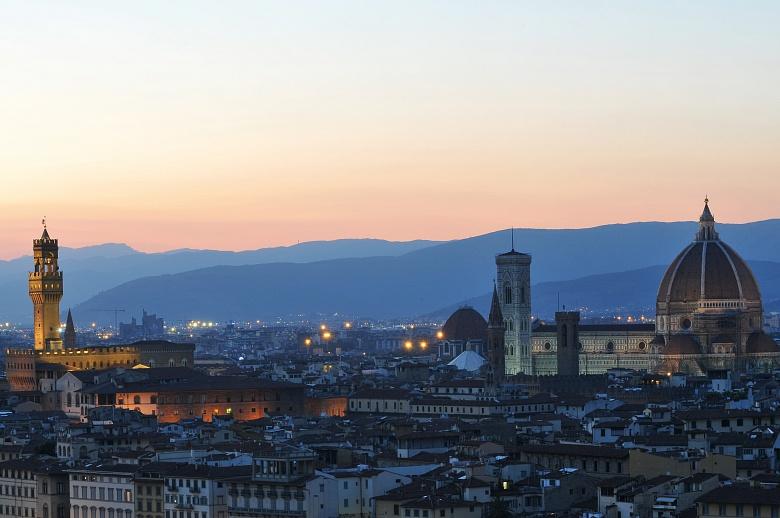 Florenz in den Abendstunden