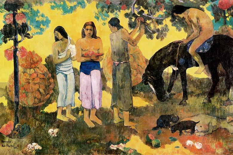 Kunst Tapete Die Obstpflücker - Paul Gauguin | Tapeterie