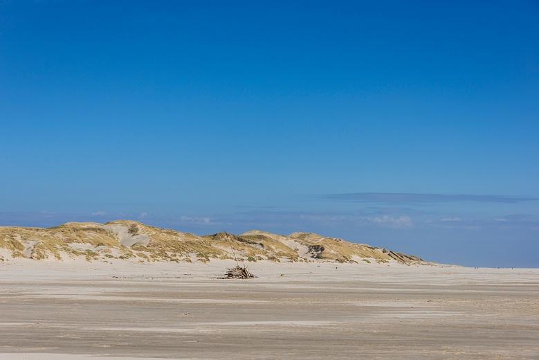 Blick auf die Dünen der Amrumer Odde