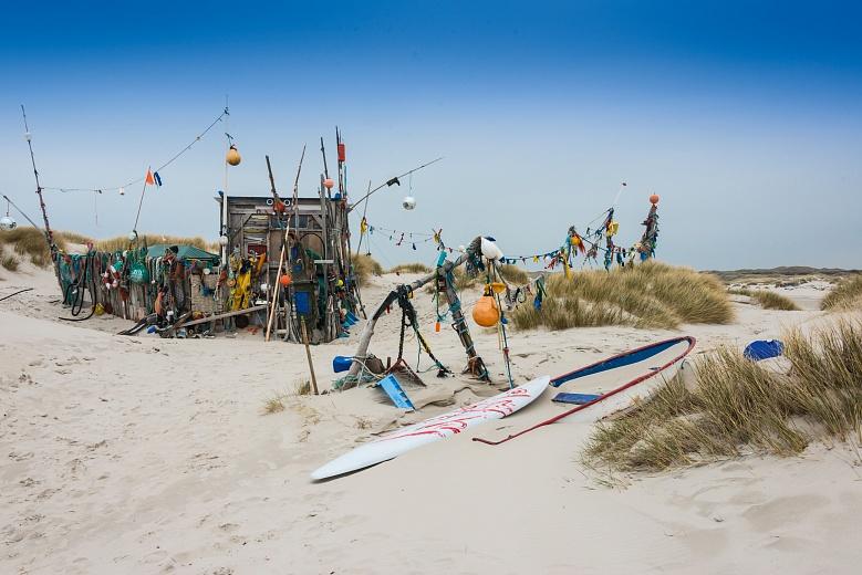 Buntes Stilleben am Strand von Amrum