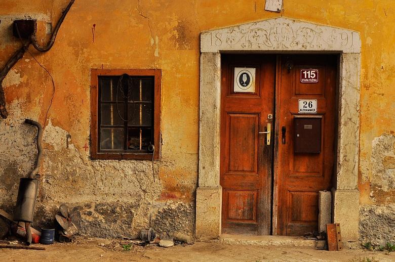 Alter Hauseingang in Slowenien von Dagmar Schneider
