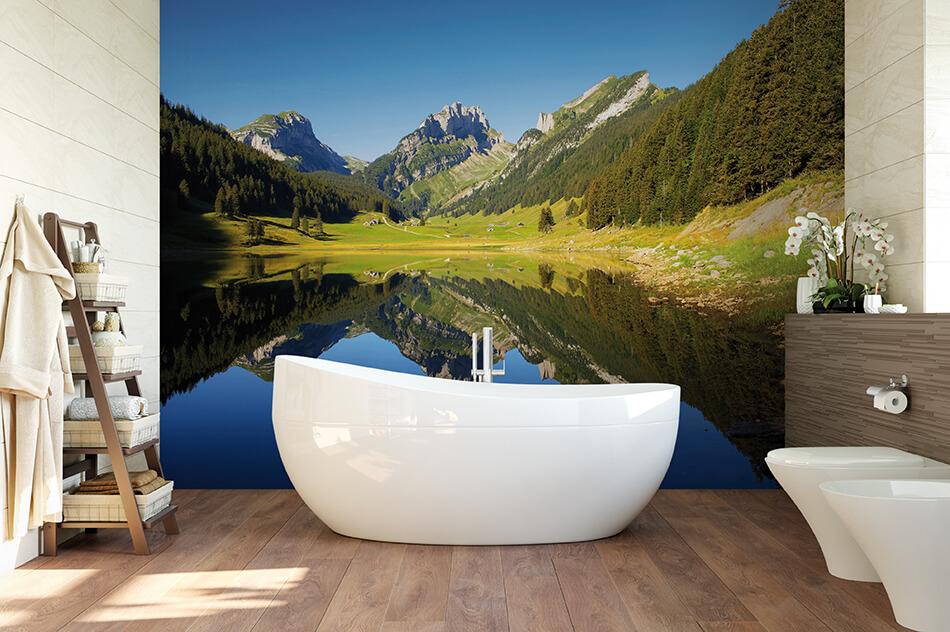 Fototapete - Bergsee in den Alpen - Christian Camenzind