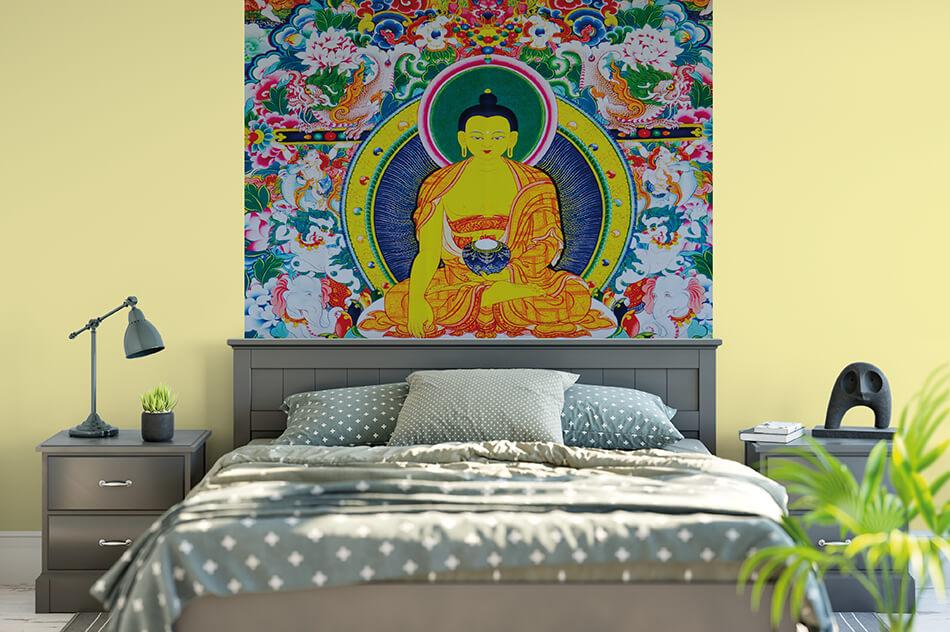 Fototapete - Sayhan Buddhistisches Kloster - Udo Bernhard