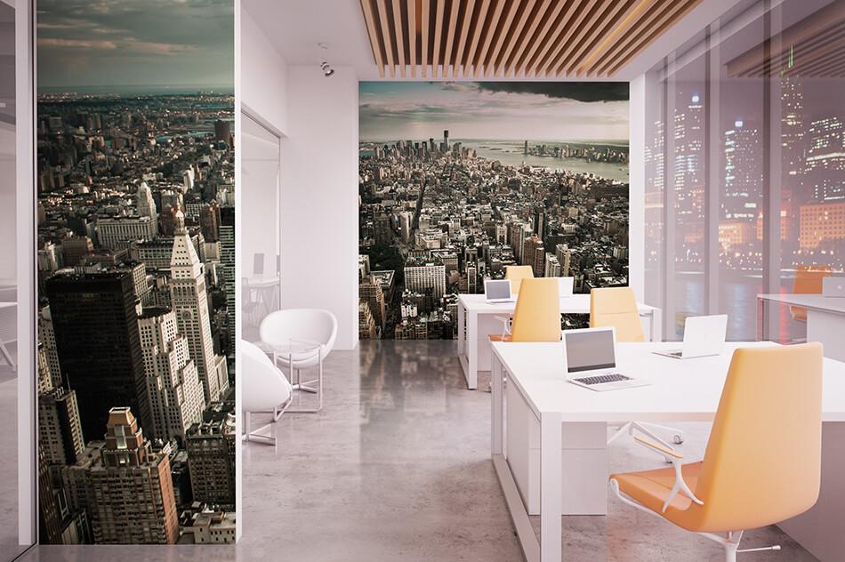 Fototapete - New York from above - Hannes Cmarits