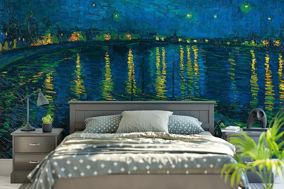 Kunst_Tapeten- Sternennacht - Vincent Van Gogh