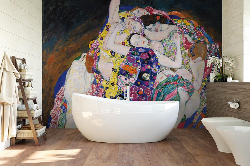 Kunst Tapete aus dem Jugendstil - Gustav Klimt, Die Jungfrau - Artothek