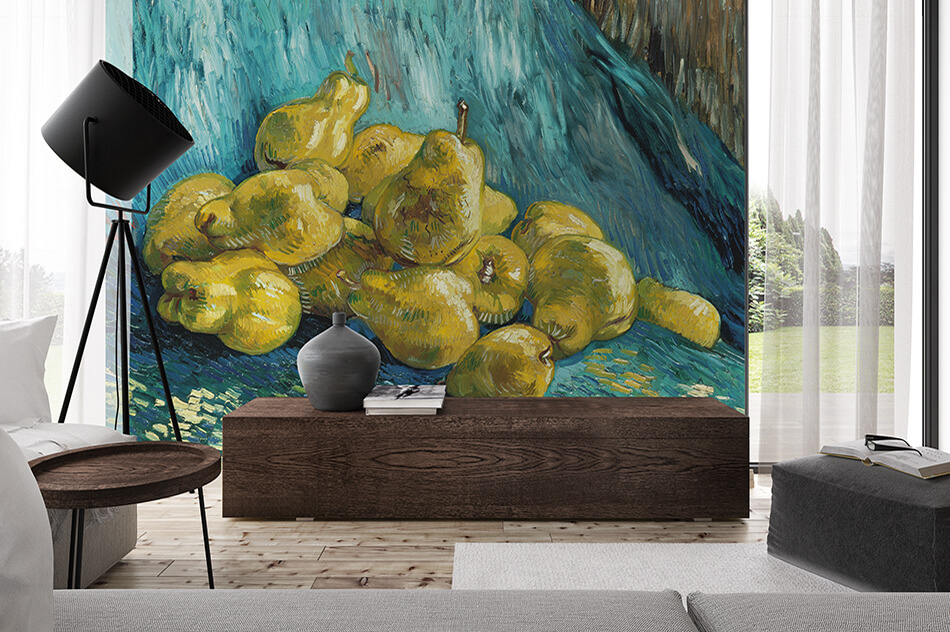 Kunst Tapete Stillleben - Quittenstillleben, Vincent van Gogh - Artothek