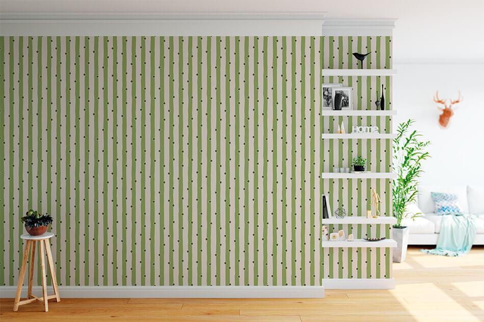 Mustertapeten Stripes - Florale Serie D-4 - Vincenzo Sguera